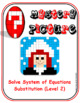 EMOJI-Solve System of Equations:Substitution L2 (Google Interactive & Hard Copy)