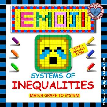 EMOJI - System of Inequalities: Slope-Intercept Form (A Matching Challenge)