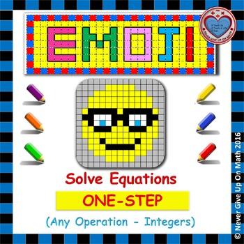 EMOJI - Solving 1-step equation by Adding, Subtracting, Mu