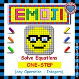 EMOJI - Solving 1-step equation by Adding, Subtracting, Multiplying or Dividing