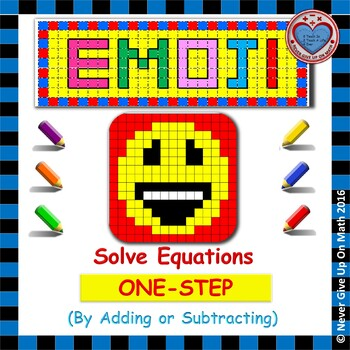 EMOJI - Solving 1-step equation by Adding or Subtracting