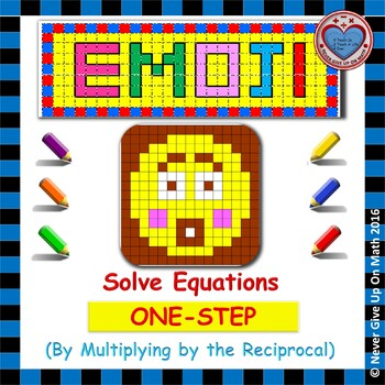 EMOJI - Solving 1-step equation by Multiplying by the Reciprocal