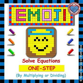 EMOJI - Solving 1-step equation by Multiplying or Dividing