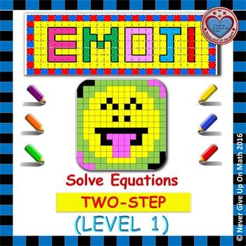 EMOJI - Solving 2-step Equation (Level 1)