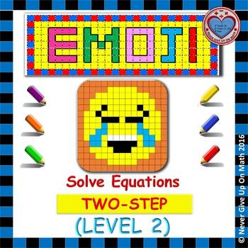 EMOJI - Solving 2-step Equation (Level 2)