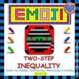 EMOJI - Solving 2-step Inequalities (Level 1)