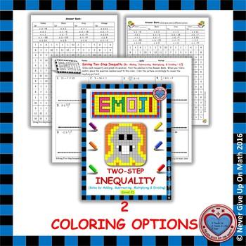 EMOJI - Solving 2-step Inequalities (Level 2)