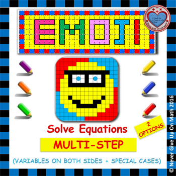 EMOJI - Solving Equations with Variables on Both Sides & S