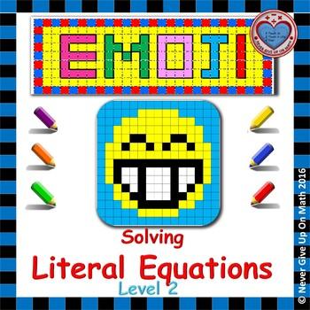 EMOJI - Solving Literal Equations Level 2
