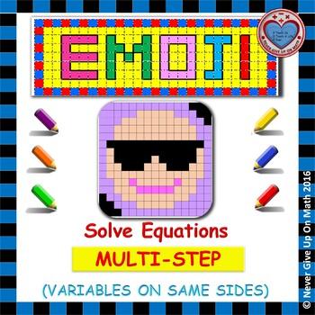 EMOJI - Solving Multi Step Equations