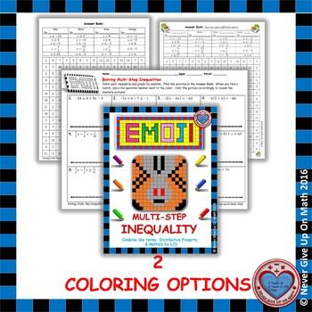 EMOJI - Solving Multi Step Inequalities