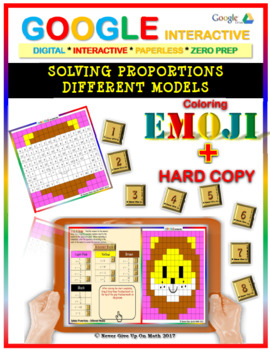 EMOJI - Solving Proportions: 5 Different Models (Google Interactive & Hard Copy)