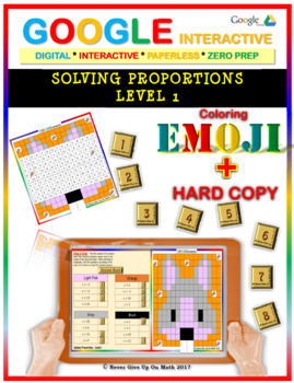 EMOJI - Solving Proportions: Level 1 (Google Interactive &