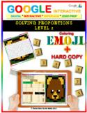 EMOJI - Solving Proportions: Level 2 (Google Interactive & Hard Copy)