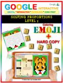 EMOJI - Solving Proportions: Level 3 (Google Interactive & Hard Copy)