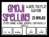 EMOJI Spelling- Things You Play Edition!