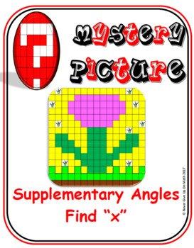 """EMOJI - Supplementary Angles (Level 2) - Find """"x"""""""