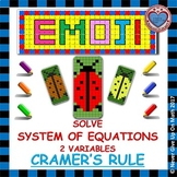 EMOJI - System of Equations - 2 Variables Cramer's Rule