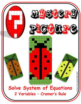 EMOJI - System of Equations - 2 Variables Cramer's Rule (Google & Hard Copy)