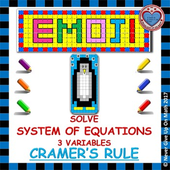 EMOJI - System of Equations - 3 Variables Cramer's Rule