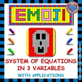 EMOJI - System of Equations - 3 Variables With Applications