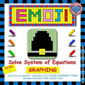EMOJI - System of Equations - Solve by Graphing Level 1