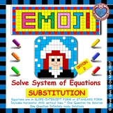 EMOJI - System of Equations - Solve by Substitution Level 2