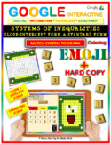 EMOJI - System of Inequalities: 2 FORMS (Google Interactive & Hard Copy)