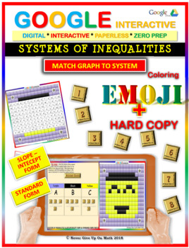 EMOJI - System of Inequalities: Match Challenge 2 Forms (Google & Hard Copy)