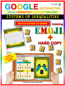 EMOJI - System of Inequalities: Match Challenge (Google Interactive & Hard Copy)