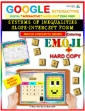EMOJI - System of Inequalities (Slope-Intercept)(Google Interactive & Hard Copy)