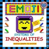 EMOJI- System of Inequalities: Slope-Intercept & STANDARD (A Matching Challenge)
