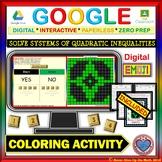 EMOJI - System of Quadratic Inequalities (Google & Hard Copy)