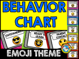 EMOJI BEHAVIOR CHART (EMOJI BACK TO SCHOOL ACTIVITIES) EMO