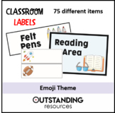 EMOJI THEME - Classroom Labels, Tray Labels & Name Labels