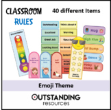 EMOJI THEME - Classroom Management including Passes and Book Marks