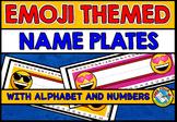 EMOJI NAME TAGS ❤ EMOJI THEME CLASSROOM DECOR: EMOJI THEME