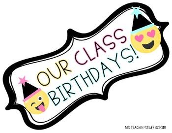 EMOJI THEMED Class Birthdays 3