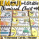 EMOJI THEMED: (EDITABLE) DISMISSAL CHART: CLASS DECOR