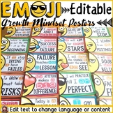 EMOJI: (EDITABLE) GROWTH MINDSET POSTERS/QUOTES: CLASS DECOR