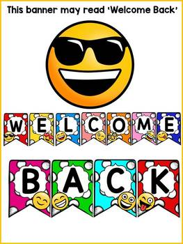 EMOJI THEMED: (EDITABLE) WELCOME BACK BANNER: CLASS DECOR