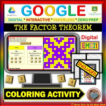 EMOJI - The Factor Theorem (Google & Hard Copy)