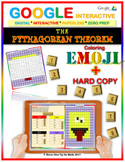 EMOJI - The Pythagorean Theorem (Google Interactive & Hard Copy)