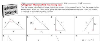 EMOJI - The Pythagorean Theorem (Google Interactive & Hard Copy)