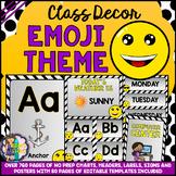 EMOJI Theme Classroom Decor Mega Bundle Pack 2 EDITABLE BACK TO SCHOOL