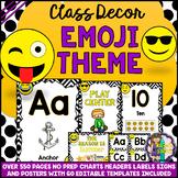 Emoji Classroom Theme Decor Mega Bundle Pack EDITABLE (BAC