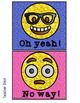 EMOJI Themed Question Response Sticks (ENGLISH)