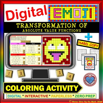 EMOJI-Transformation of Absolute Value Function (Google Interactive & Hard Copy)