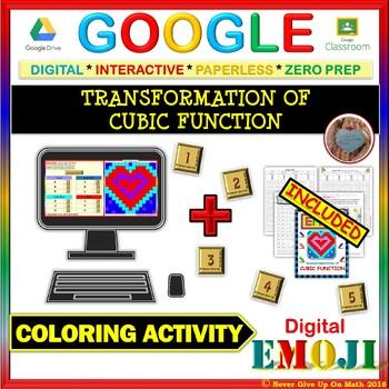 EMOJI - Transformation of Cubic Function (Google Interactive & Hard Copy)