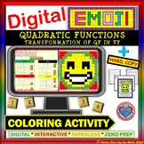 EMOJI-Transformation of Quadratic Function (Google Interactive & Hard Copy)
